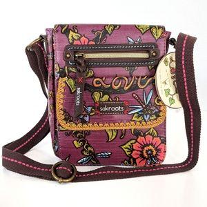 Sakroots Berry Trail Messenger Crossbody Bag